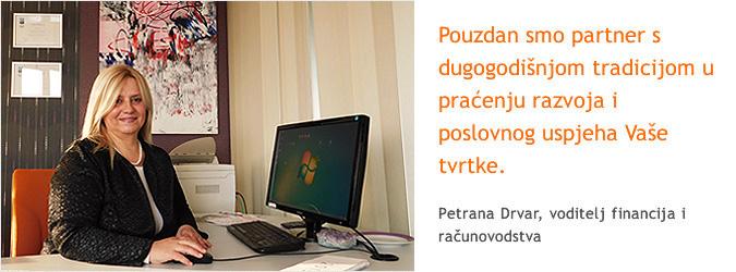 Petrana Drvar, voditelj financija i računovodstva